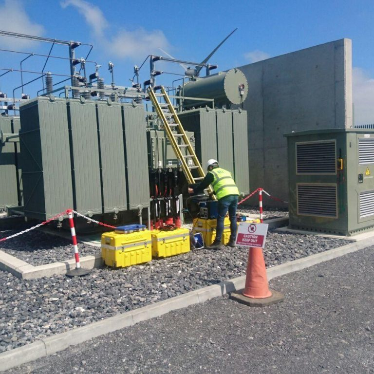 Commissioning of ESB 31.5 MVA 38/MV transformer.